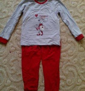 Пижама размер 128