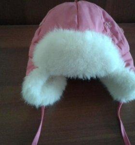 Зимняя шапочка-ушанка для вашей малышки