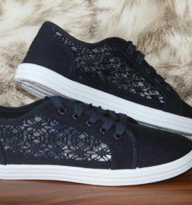 Кеды. Слипоны Adidas женские новые синие