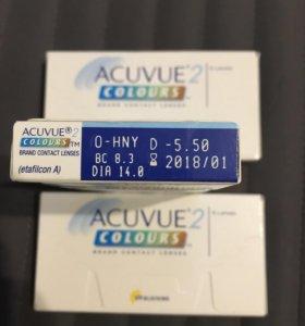Цветные линзы Acuvue colours -5,5 -7,5