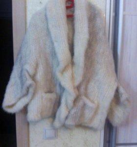 Норковая накидка-куртка