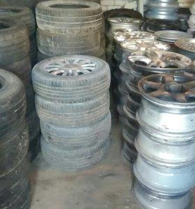 Продажа б/у резины, дисков штамп и литьё.