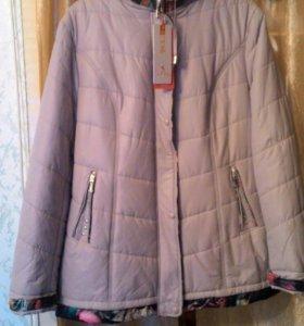 Новая демисезонная куртка 58 размер