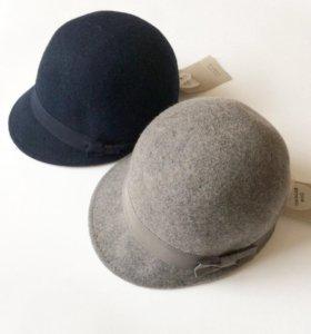 Шляпа новая Zara 100% шерсть