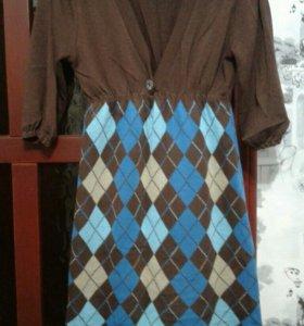 Платье вязанное 44 р-р