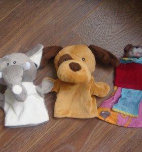 Мягкие игрушки,перчаточные
