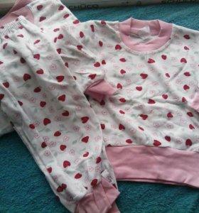 Пижамки новые на мальчика и девочку
