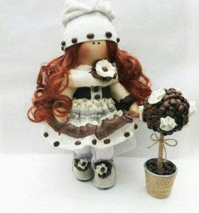 "Текстильная куколка ""Кофеечка"""