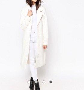 Новое Белоснежное длинное пальто Ichi