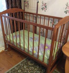 Кровать детская + матрац +детское одеяло в подарок