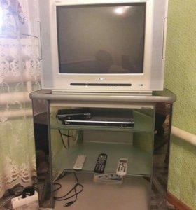 Телевизор, стол, двд. Обр.по тел.8928 671 98 41