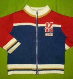 свитер на молнии глория джинс.12-18мес