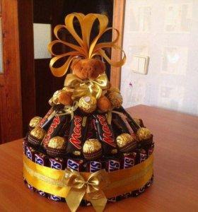 Торты из конфет!