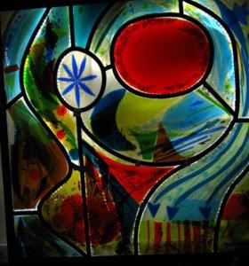 Витраж из стекла с подсветкой