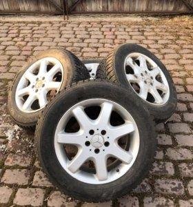 Колеса зимние в сборе на Mercedes