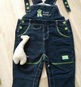 Детские вещи Комбенизон джинсовый