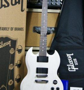 Gibson SGJ rubbed white