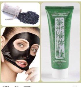 Черная маска- пленка с бамбуковым углем