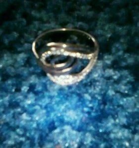 Кольцо 18.5 серебро