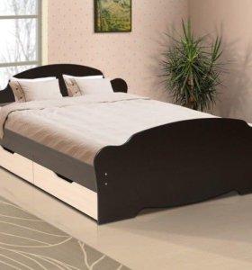 Кровать с ящиками 1600