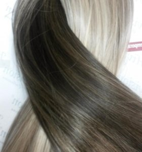 Волосы искусственные на клипсах 50 см.