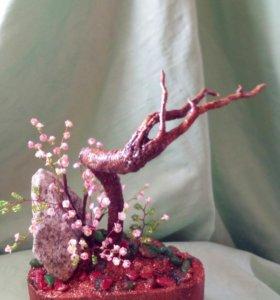 Дерево из бисера. Вечная Весна.