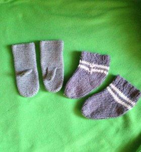 ‼️Тёплые шерстяные носочки и варежки