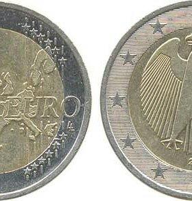 1 и 2 евро Германия