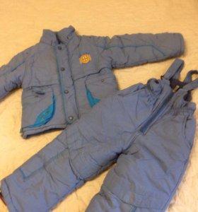 Куртка и полукомбинезон зимние. 2-3 года