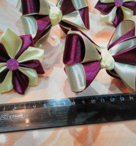 Бантики и цветочки ручной работы