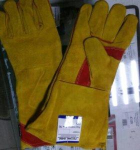 Краги для сварщика рукавицы брезентовые