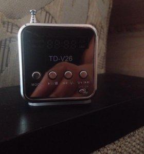Портативный FM- радио,стерео ПК mp3