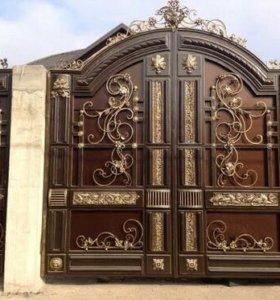 Ворота двери перила козырки