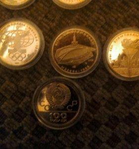 золотой монета олимпиада 80 г. позолочен копия