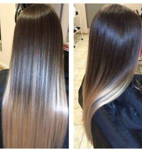 Ламенирования  волос- стрижки,окрашивание.