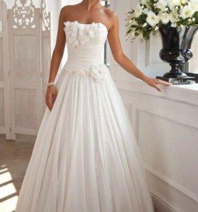Свадебное платье А-силуэта (Милана)