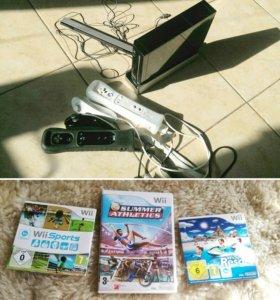 Nintendo Wii black+3 игры