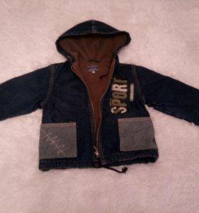 Куртки джинсовые для мальчика