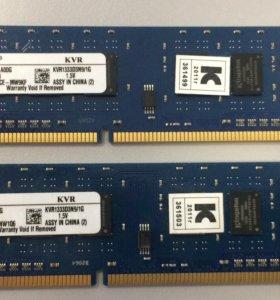 Оперативная память Kingston KVR1333d3n9 (2x1GB)