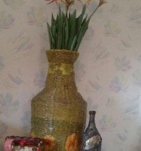 Денежная бутылка, проделки из бумажных трубочек