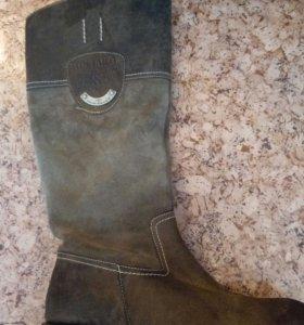 Кожаные сапоги Tom Tailor р-р 37 и 38