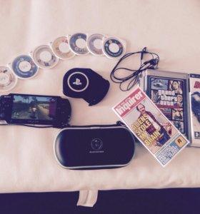 Игровая приставка SONY PSP Black,чехол,игры+ТОРГ!