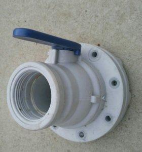 Кран шаровой для бассейна из ПВХ и Пластика