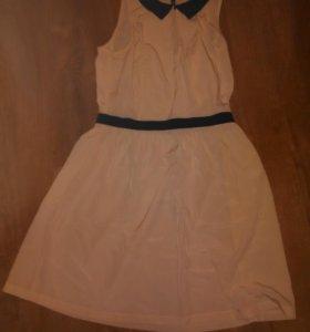 Светлое платье Манго 46 бу