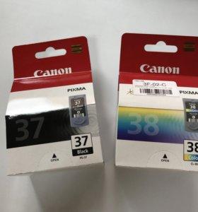 Картриджи Canon 37 и 38