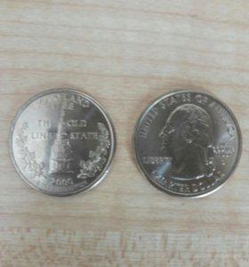 25 центов США Мaryland