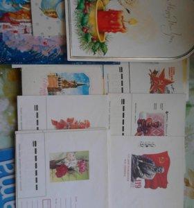 открытки и конверты 70-90-е годы