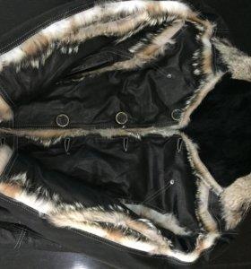 Продам новую кожаную куртку на меху
