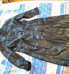 Кожанка. Куртка из кожи. Пальто кожаное. Весна-осе