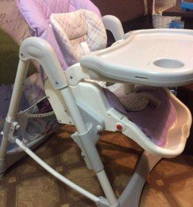 Продам стульчик для кормления, шезлонг happy baby